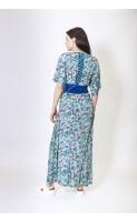 Robe longue imprimée en soie ROCKY