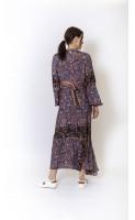 Robe longue en soie REVE